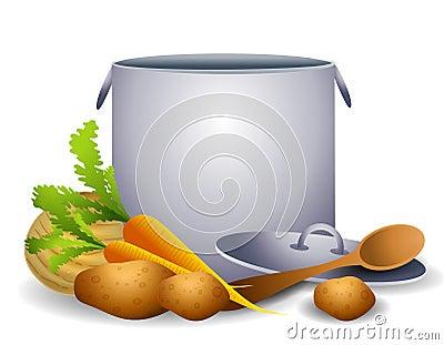 Guisado o sopa sano