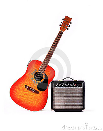 Guitar and the amplifier