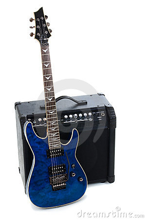 Guitar amplifier and electric-guitar