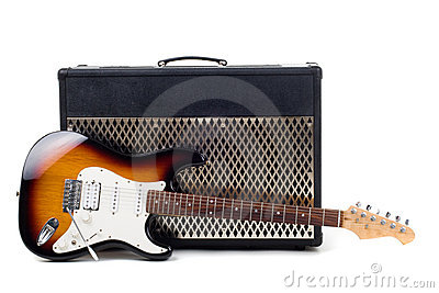 Guitar amplifier and electricguitar