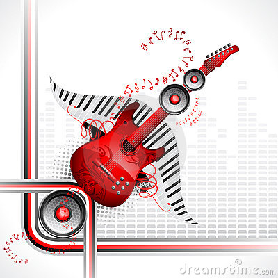 Free Guitar And Speaker Royalty Free Stock Photos - 21642718