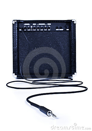Guitar aplifier with cable