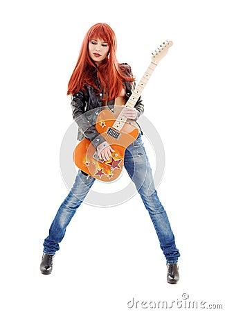 Free Guitar Babe Stock Photos - 42069383