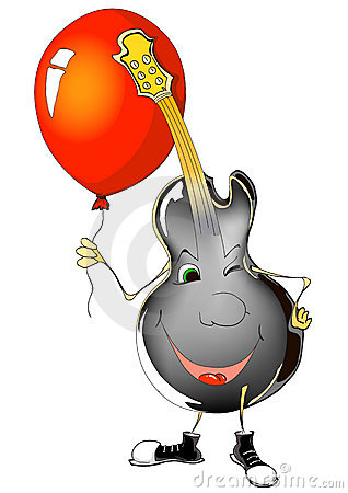 Guitar and ballon