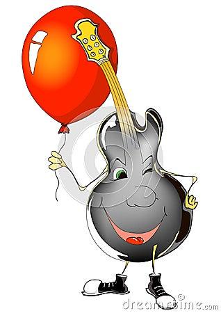 Guitar and ballon
