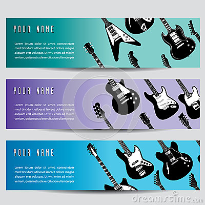 Guitar banners