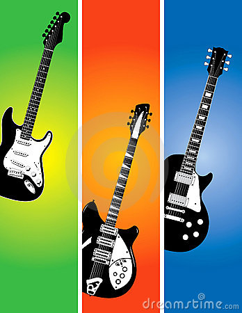 Guitar banners set