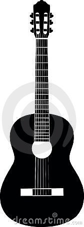 Guitar black-and-white