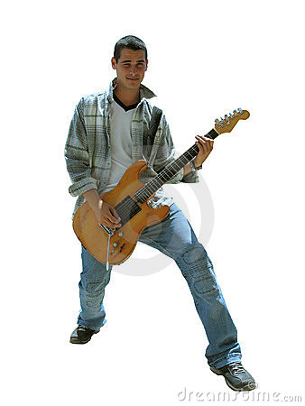 Free Guitar Boy - With Clipping Path Royalty Free Stock Photos - 774848