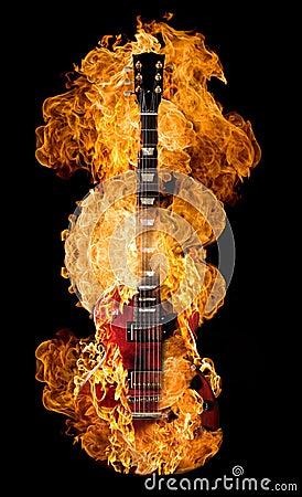 Free Guitar Burning Royalty Free Stock Photography - 8130737