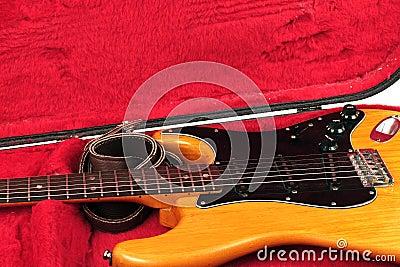 Guitar in a case