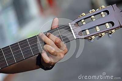 Guitar chord played