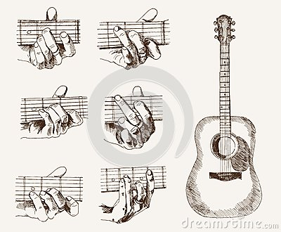 Guitar Chords Diagrams - Chords Collection Royalty Free Stock ...