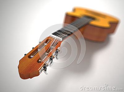 Guitar. Depth of field