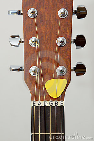 Guitar detail: tuning keys,hitchpins, note letters