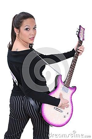 Free Guitar Girl 01 Stock Images - 68984