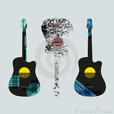 guitar graphic art4 royalty free stock photo image 32570405