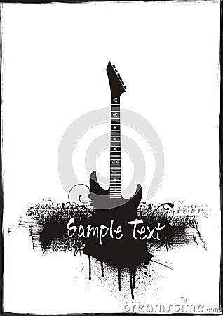 Guitar grunge theme