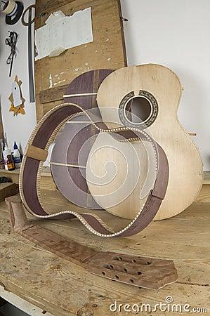 Free Guitar Handmade Royalty Free Stock Photography - 12315417