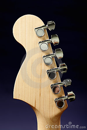 Guitar headstock back