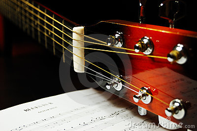 Guitar headstock and tuning pegs