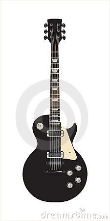 Guitar Les Paul black - vector