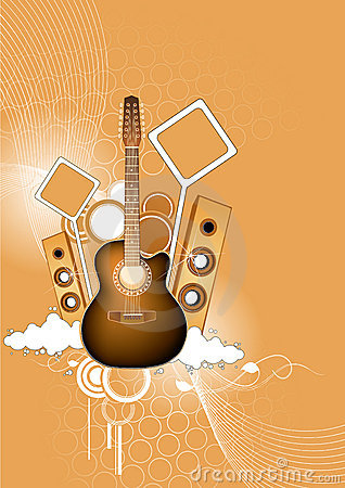 Guitar and loudspeakers