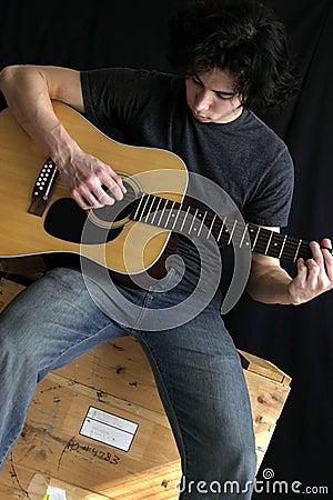 Free Guitar Man Stock Photo - 269280