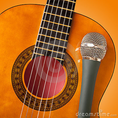 Guitar and a microphone