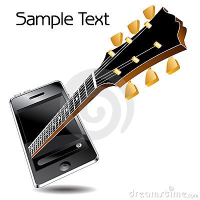 Guitar neck and media player