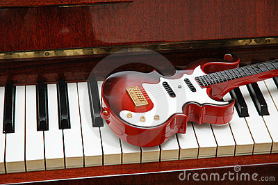 Guitar on the piano