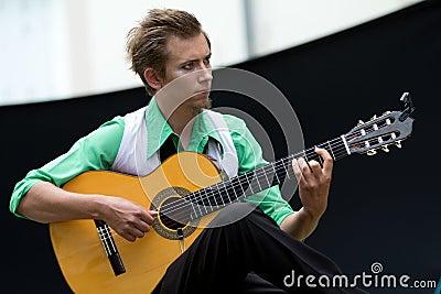 Guitar player Editorial Photography