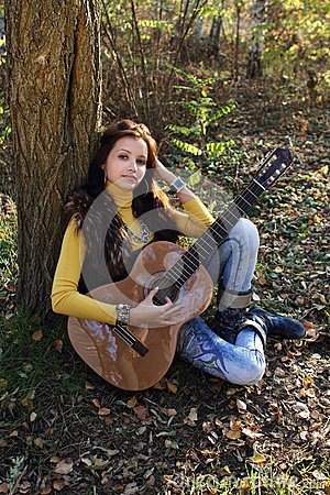 Guitar player girl