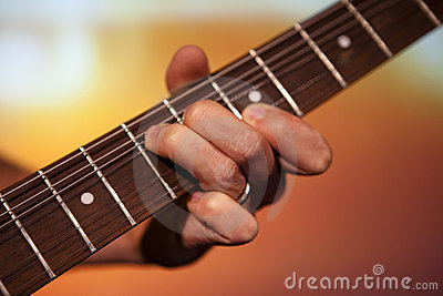 Guitar players fingers