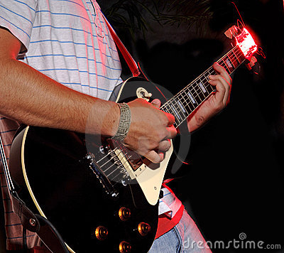Free Guitar Playing - Music Band Stock Photo - 844970