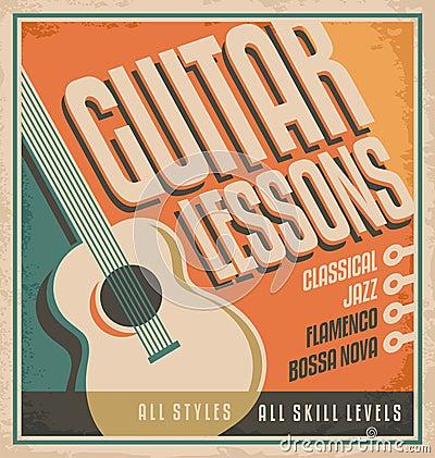 Free Guitar Poster Design Royalty Free Stock Image - 35095436