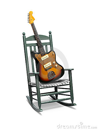 Guitar On Rocking Chair Stock Photos - Image: 11514783