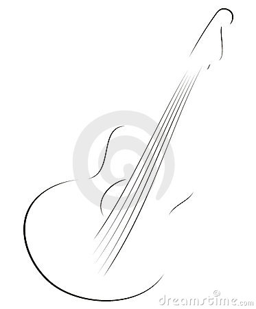 Free Guitar Sketch Stock Images - 17758424