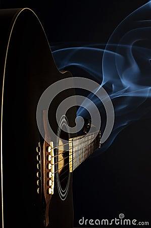 Guitar and smoke