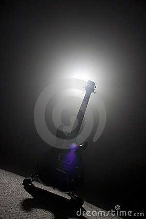 Guitar in Spot Light