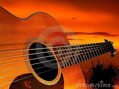 Guitar Sunset