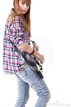 Guitar teen girl