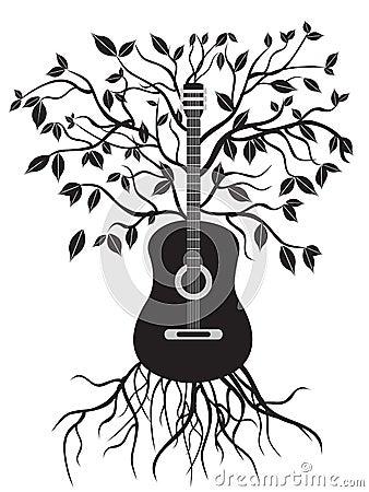 Free Guitar Tree Royalty Free Stock Photo - 22308225