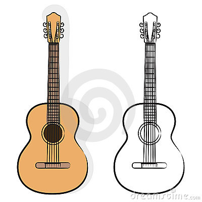 Free Guitar Vector Royalty Free Stock Photos - 19449798