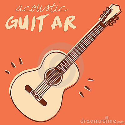 Free Guitar Vector Royalty Free Stock Photography - 22297177