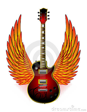 Guitar Wings Fire