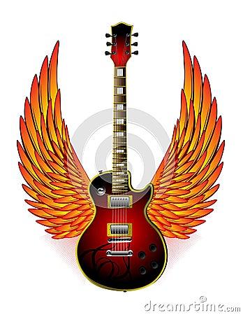 Guitar Wings Fire