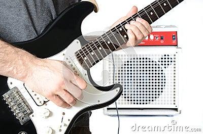 Guitarist and Amp