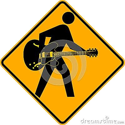 Guitarist Crossing Sign