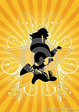 Guitarist jumps